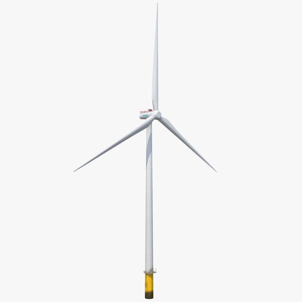 3D model sea wind turbine siemens