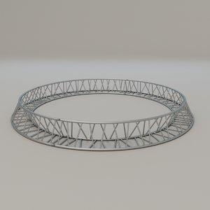 3D triangular circular truss