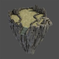 stone rocks mountains 3D model
