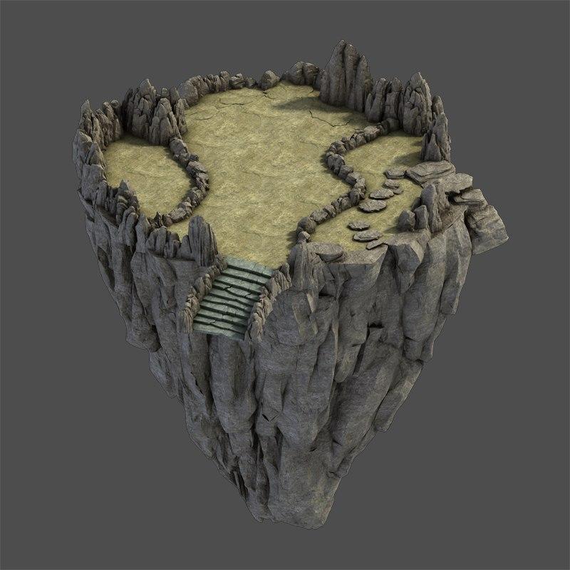 stone rocks mountains 3D model
