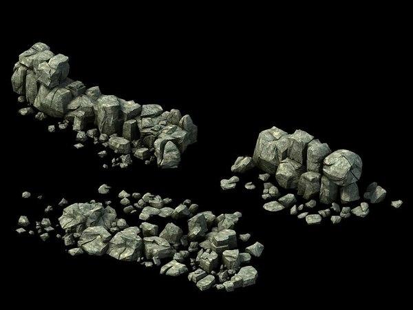 3D stone rocks mountains