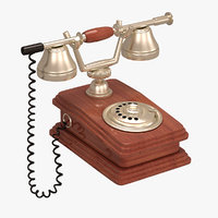 3D antique telephone
