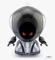 cartoon pirate bot 3D model