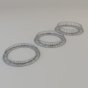 3D triangular circular truss model