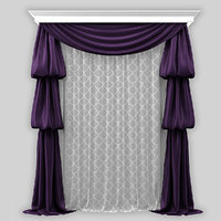 curtain draped
