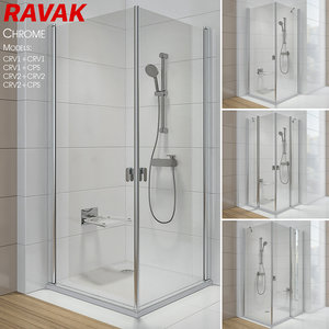 3D shower ravak chrome