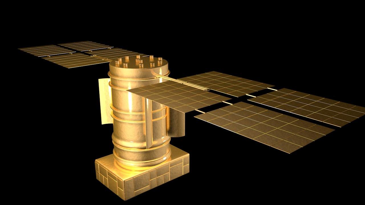 3D satellite glonass model