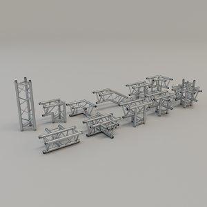 triangular truss corners 3D model