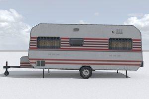 3D caravan games model