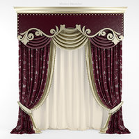 realistic curtain 3D model