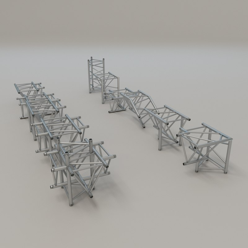 3D triangular truss corners