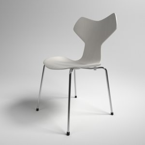 interior fritz hansen grand prix 3D model