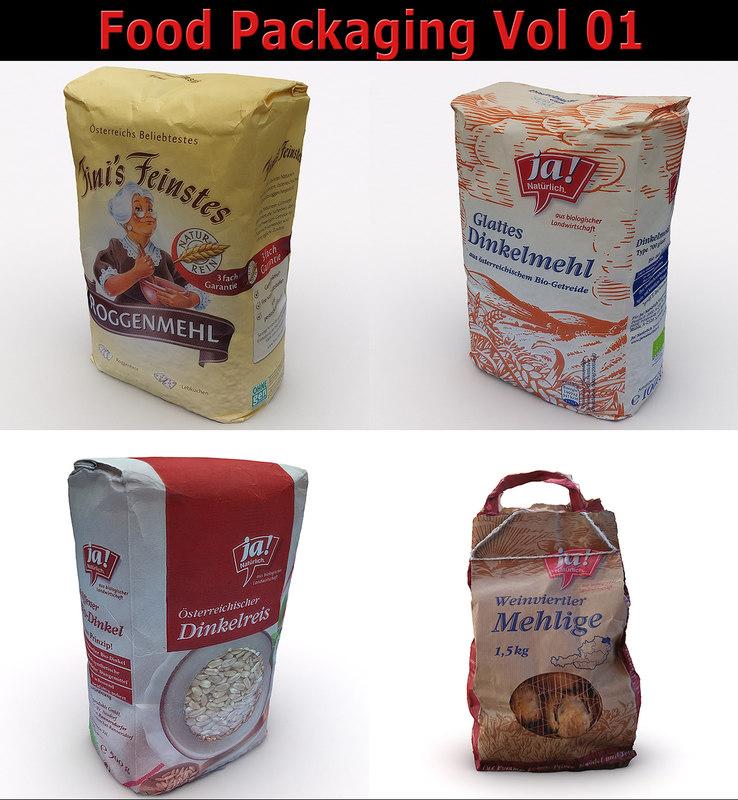3D model food packagings