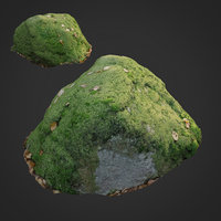 3d scanned nature stone 039