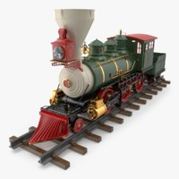 christmas locomotive toy train 3D