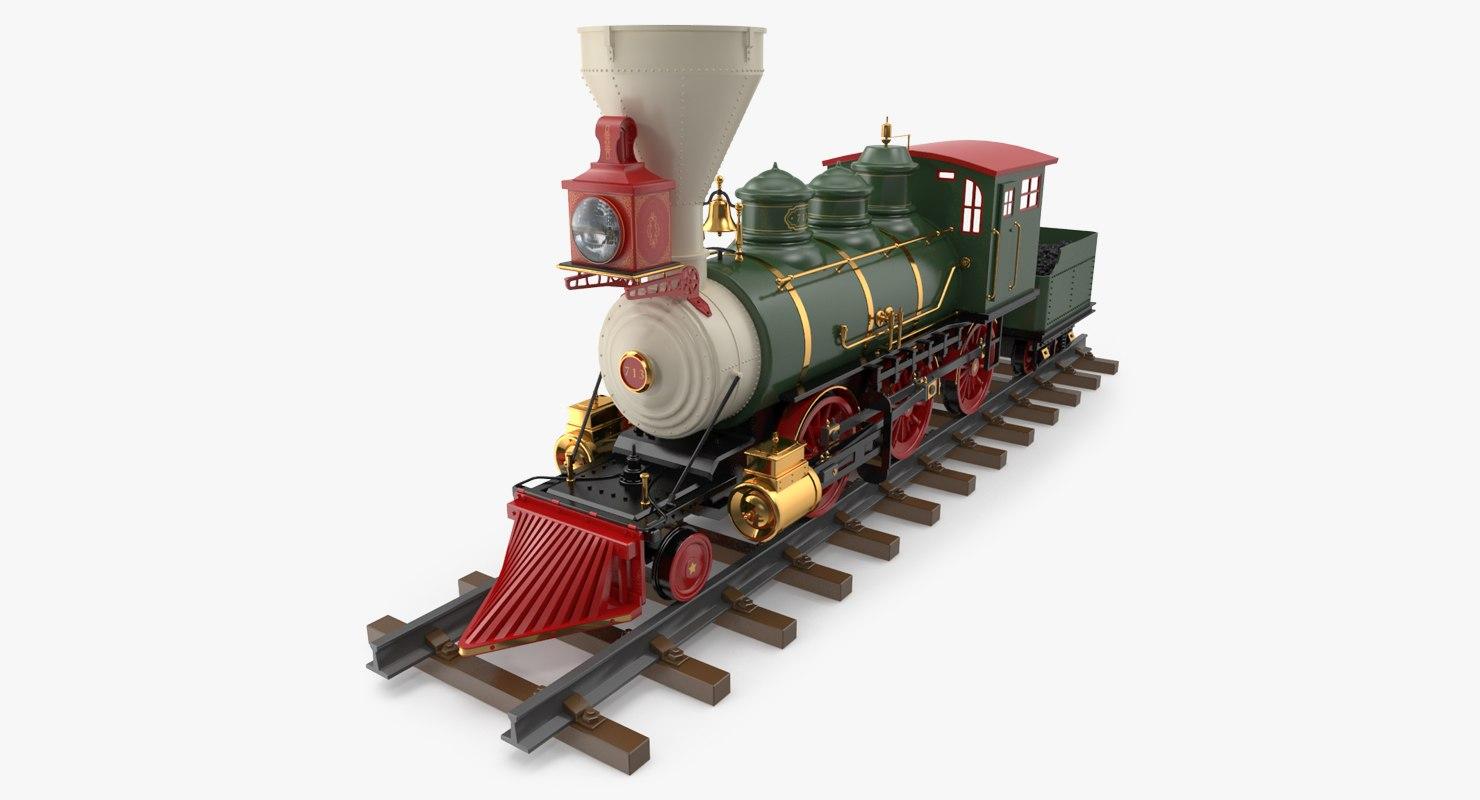 christmas locomotive toy train 3D
