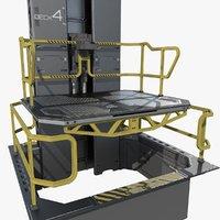 Modular Sci-fi Lift Elevator
