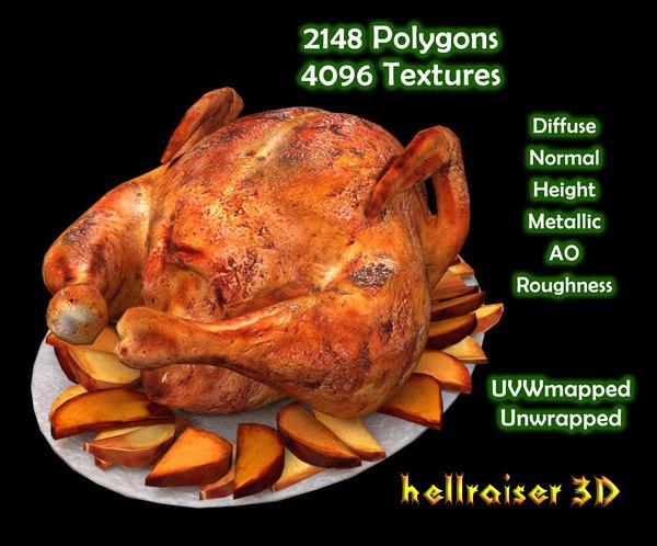 3D food chicken