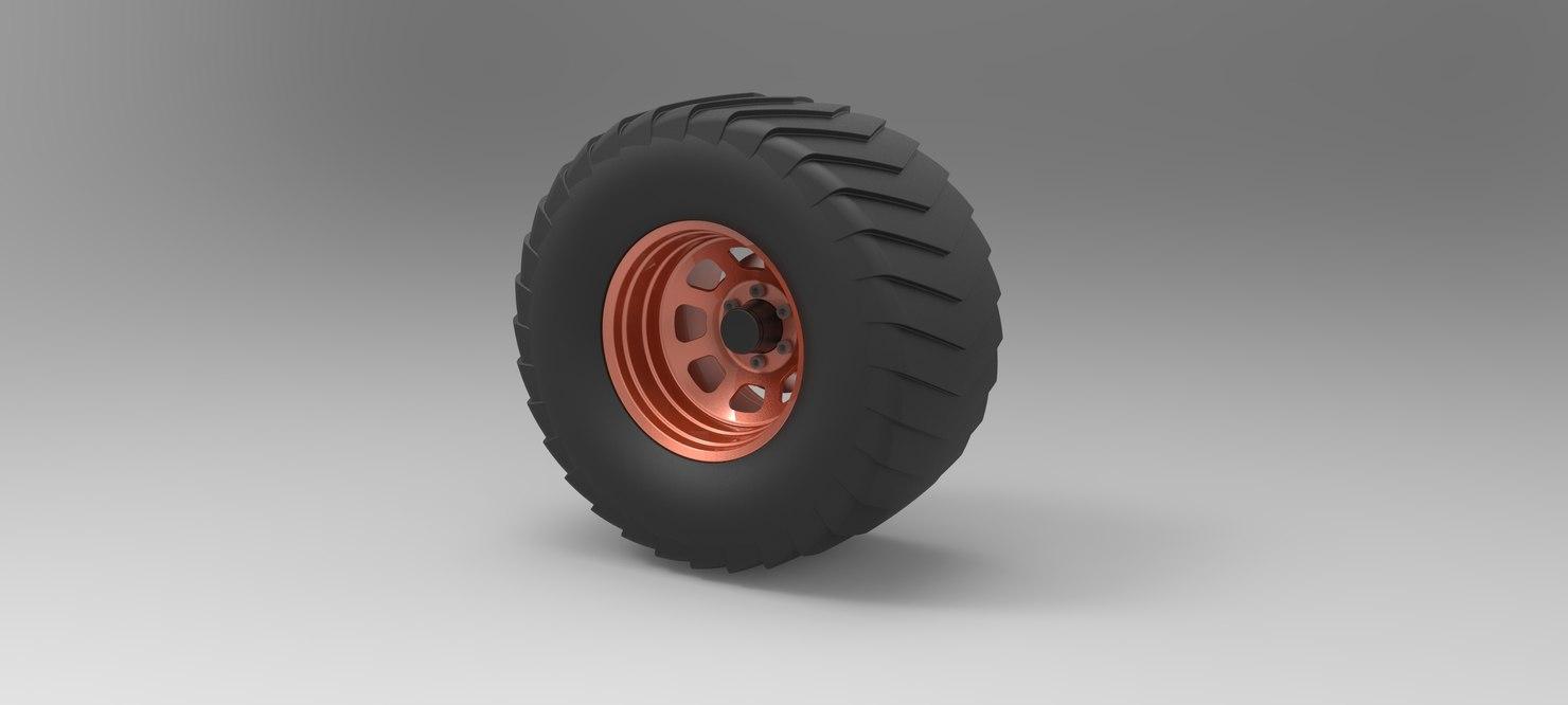 wheel pull truck 3D model