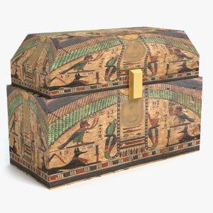 egyptian chest 3D
