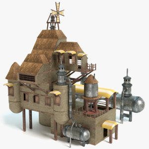 steampunk house model