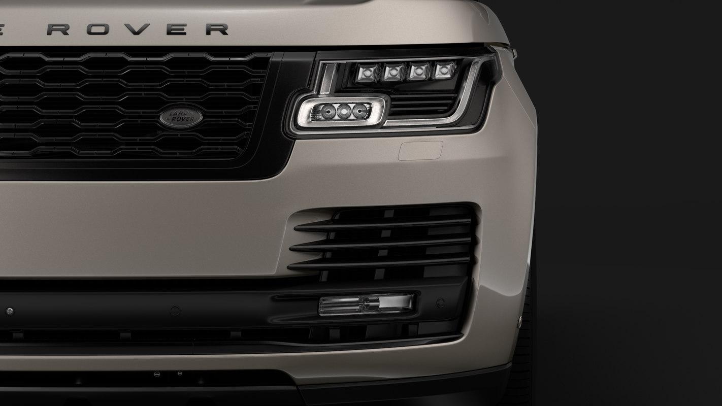3D range rover autobiography hybrid model