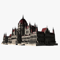 3D cathedral parliament model