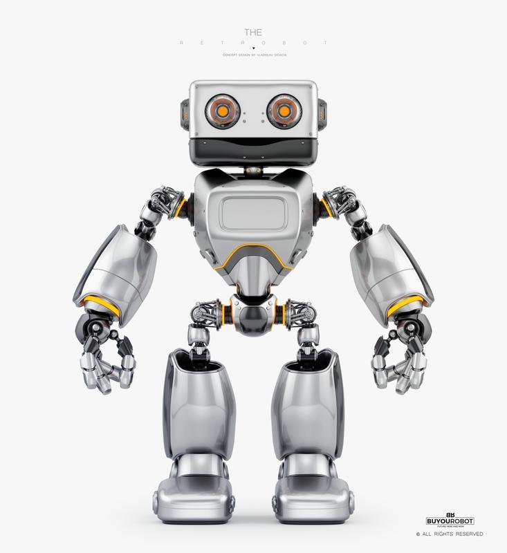 big retro bot 3D model