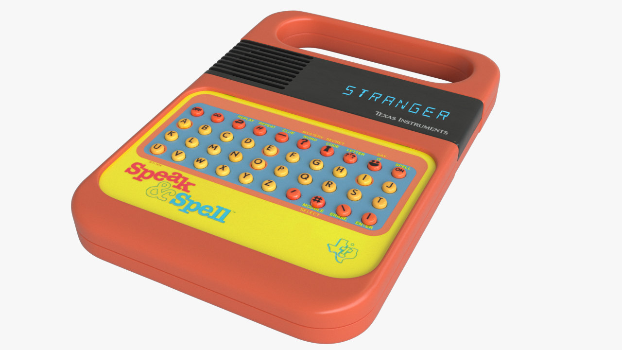 3D speak spell model