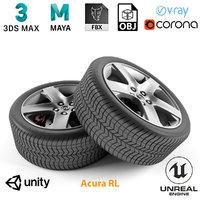 3D armrend car wheel acura rl