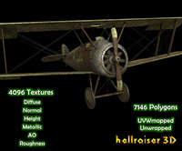 3D sopwith camel aircraft model