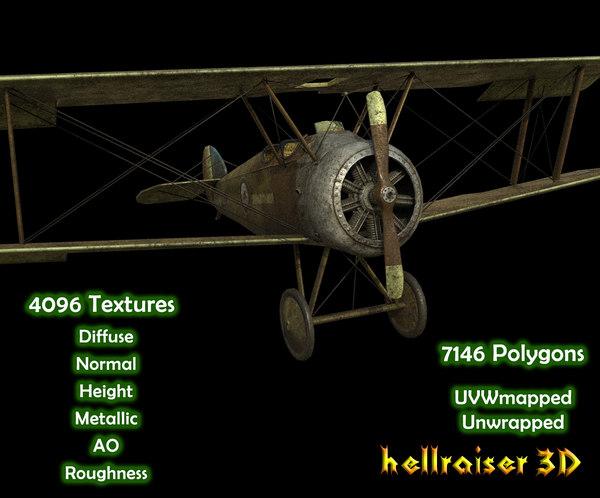 3D sopwith camel aircraft model