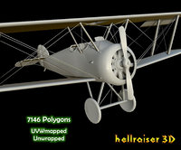 3D sopwith camel aircraft