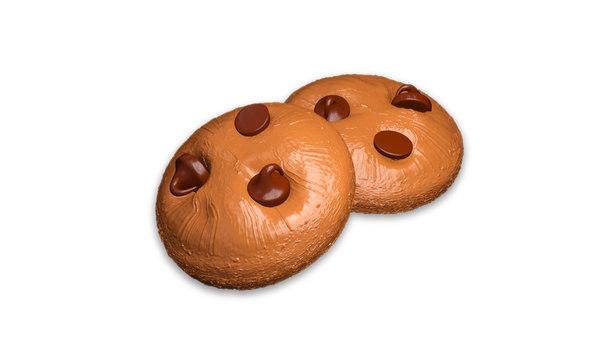 chocolate cookies 3D