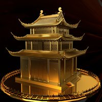 3D chinese ancient house