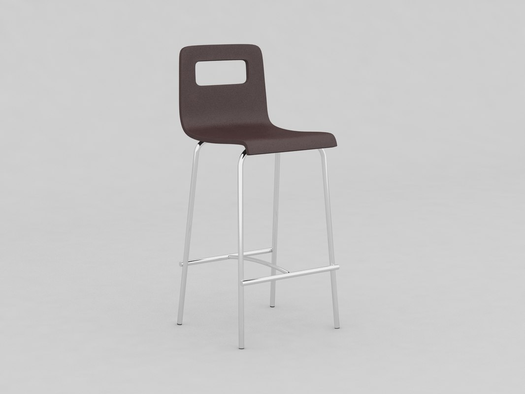 kitchen stool 001 3D model