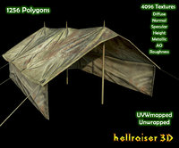 Military Tent - 2 - Textured