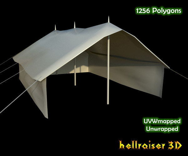military tent model