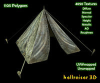 3D military tent