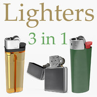 3D lighters design metal model