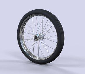 wheel dragster 3D model