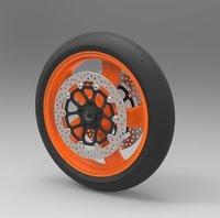 bike wheel 3D model
