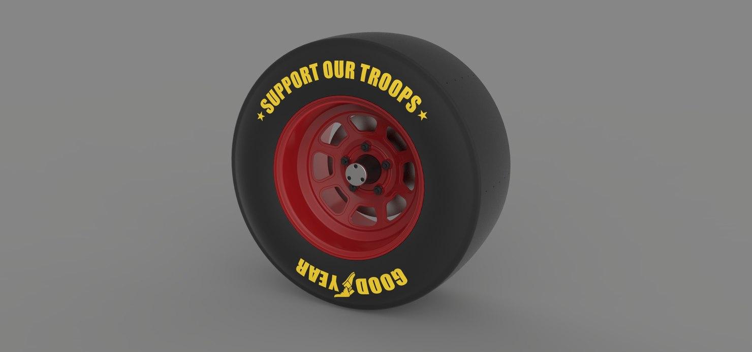 3D wheel nascar