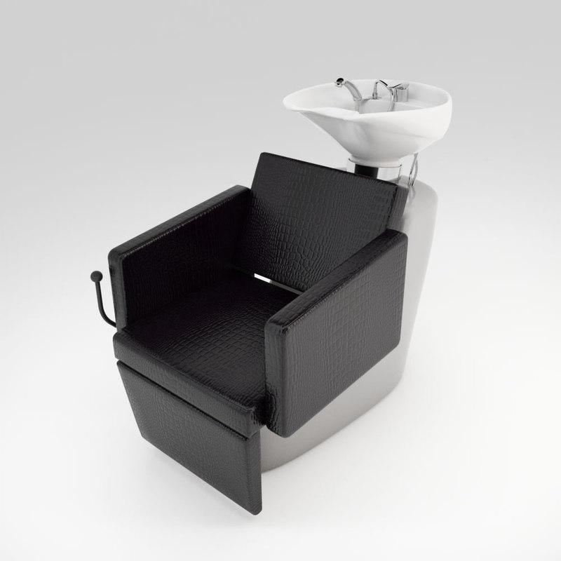 hair salon sink 3D