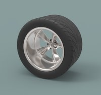 3D rear sport wheel