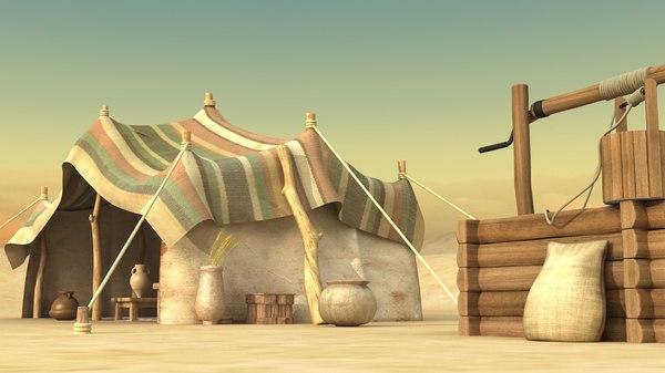 tent oasis 3D model
