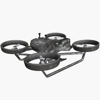 3D hoverbike hover bike model