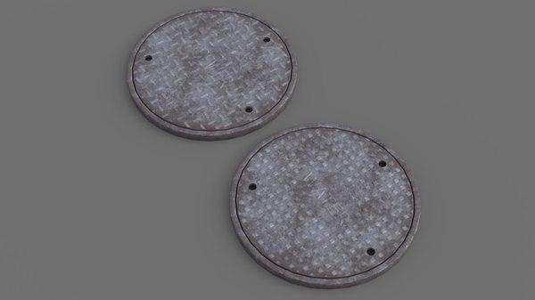 3D manhole 1 model