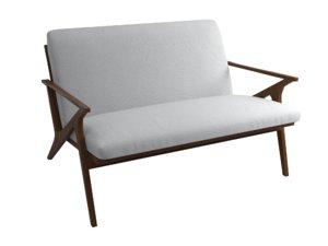 3D cavett loveseat fabric sofa