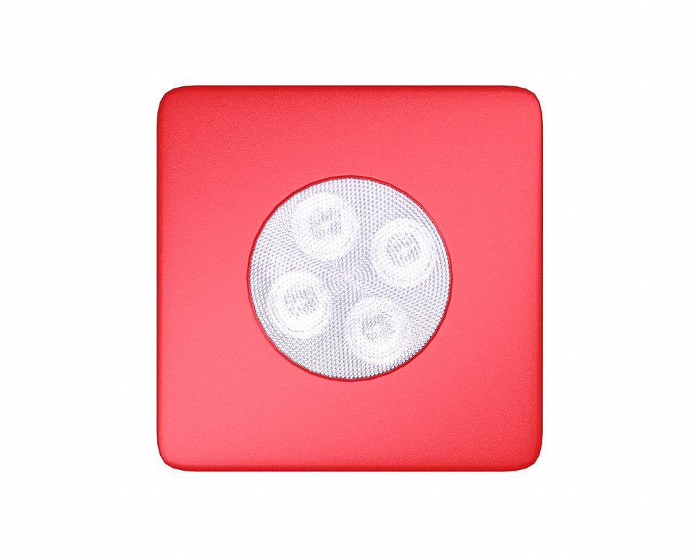 3D red spot lamp